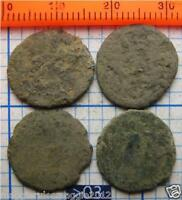 4 AUTHENTIC ANCIENT UNCLEANED ROMAN  1600 YEAR OLD BRONZE COINS NICE LOT  03