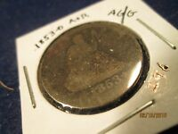1853 O ARROWS & RAYS 90 SILVER US 25C IN ALMOST GOOD/GOOD  296