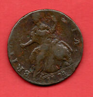 1774 KING GEORGE III COPPER HALF PENNY COIN. HALFPENNY. 1/2D