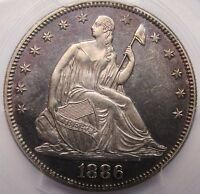 1886 SEATED LIBERTY HALF DOLLAR PCGS MS 65 MONSTER COIN