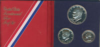 1776 1976 BICENTENNIAL SILVER PROOF 3 COIN SET UNITED STATES MINT
