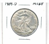 1939 D WALKING LIBERTY HALF DOLLAR   HIGHER GRADE