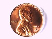 1955 S LINCOLN WHEAT CENT PCGS MS 66 RD 72026763