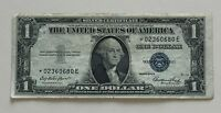 USA 1 DOLLAR SILVER CERTIFICATE SERIES 1935 E STAR NOTE ONE DOLLAR BANKNOTE 3110