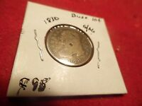 1830 90 SILVER CAPPED BUST 10C 185 YEAR OLD US COIN IN DECENT SHAPE C 95