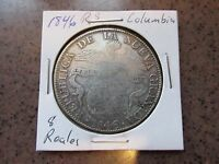 COLUMBIA BOGOTA 1846 RS 8 REALES IN VF CONDITION