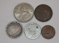 1928 PORTUGAL 50 CENTS 1933 HALF PENNY GR BRIT 1939 MEXICO 10 CENTS 1968 COINS
