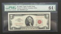 $2 SERIES 1963 US NOTE/ STAR NOTE/ PMG 64EPQ CHOICE UNC/ 1 OF 12 CONSECUTIVE/ 5