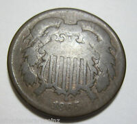 1865  TWO CENT PIECE   617F
