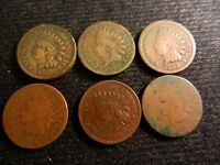 LOT X100 SMALL CENTS INDIAN HEAD 1859-VF,1863,1864,1865,1873,1879,1880,1881,1882