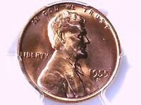 1955 S LINCOLN WHEAT CENT PCGS MS 65 RD 33538192