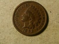 1898 INDIAN HEAD COPPER PENNY. 1 CENT