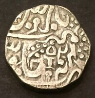 ORCHHA STATE SILVER RUPEE 1796 1842 CANNON WITH CANNONBALL  VERY NICE  FROM USA
