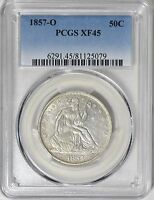 1857 O SEATED LIBERTY HALF DOLLAR PCGS XF 45