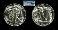 1940-S WALKING LIBERTY HALF DOLLAR MINT STATE 66 PCGS CAC 50C