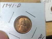 1941 D BU PENNY LINCOLN WHEAT CENTS NICE HIGH GRADE