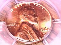 1968 S LINCOLN MEMORIAL CENT PCGS MS 65 RD 29252355