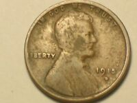 1915 D   LINCOLN WHEAT PENNY CENT VERY NICE COIN