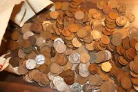 500 MIXED LINCOLN WHEAT CENT PENNY'S 1909 1939 TEENS  20'S  30'S PDS MINTS