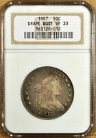 1807 O-102 NGC VF30 DRAPED BUST HALF DOLLAR