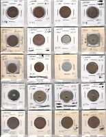 JAPAN LOT OF 24 COINS 1917 1978 INCLUDING KEY DATES   MANY UNCIRCULATED