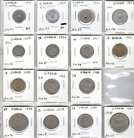 LOT OF 15 GREEK COINS INC UNCIRCULATED 1912 & 1954 5 LEPTA BU 1967 DRACHM