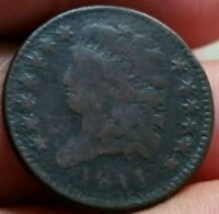 1811 1/2C BN CLASSIC HEAD HALF CENT. LY  KEY DATE