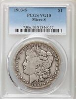 1903-S MICRO S PCGS VG10 MORGAN SILVER DOLLAR VAM-2  SMALL S VARIETY TOP 100