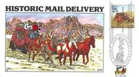 2434 25C HISTORIC MAIL DELI, STAGECOACH, COLLINS HAND PAINTED [E166789]
