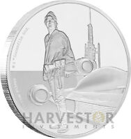 STAR WARS CLASSICS: LUKE SKYWALKER   1 OZ. SILVER COIN   OGP COA   7TH IN SERIES