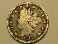 LIBERTY NICKEL 1883 WITH CENTS ; NICE COIN
