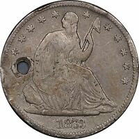 1873 CC SEATED LIBERTY HALF DOLLAR FINE DETAILS NO ARROWS
