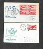 UNITED STATES U S 12 DIFFERENT FIRST FLIGHT COVERS 1940'S 4