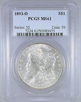 1893-O MORGAN DOLLAR MINT STATE 61 PCGS CERTIFIED