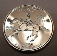 1999 S DELAWARE  90 SILVER PROOF  STATE QUARTER
