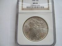 1900  MORGAN SILVER DOLLAR  NGC  MS 63