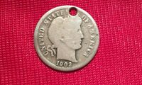 1902 O BARBER DIME   WHO DID THAT?