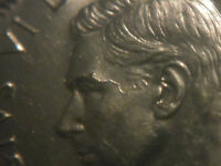 COIN 1945 CANADIAN 5 CENTS NICKEL MINT CHROME ONLY ONE ON E BAY. FACE DIE BREAK