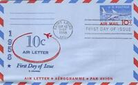 UC32A 10C JET AIRLINER LETTER SHEET, FIRST DAY COVER CACHET [D181380]