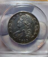 1833 SILVER CAPPED BUST HALF DOLLAR 50C ANACS AU 53 DETAILS CLEANED SHARP STRIKE