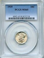 1935 MERCURY DIME PCGS MS65   10C 81825218