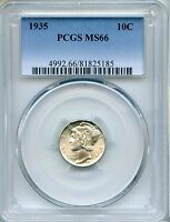 1935 MERCURY DIME PCGS MS66   10C 81825185