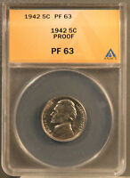 1942 P PROOF NICKEL PF 63