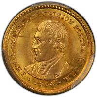LEWIS AND CLARK 1904 G$1 GOLD COMMEMORATIVE PCGS MINT STATE 64 CAC