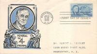 933 5C FRANKLIN D. ROOSEVELT, STAEHLE FIRST DAY COVER CACHET [E150422]