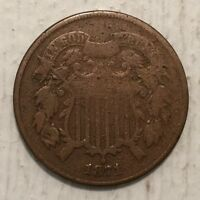 1871 2C TWO CENTS F DETAILS