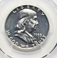 1953 PCGS PR66 FRANKLIN SILVER HALF DOLLAR PROOF PF66 GEM BU BRIGHT WHITE