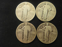 1925 P 1926 P 1927 P 1928 P  STANDING LIBERTY QUARTERS ALL 4 COINS 1 PRICE