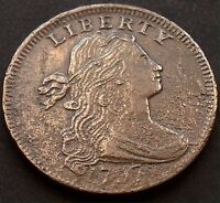 1797 LARGE CENT DRAPED BUST EXTRA FINE  DETAILS HIGH GRADE CORROSION   GRADE 4019