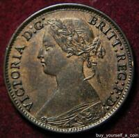 GB QUEEN VICTORIA BRONZE FARTHING 1865   HIGH GRADE